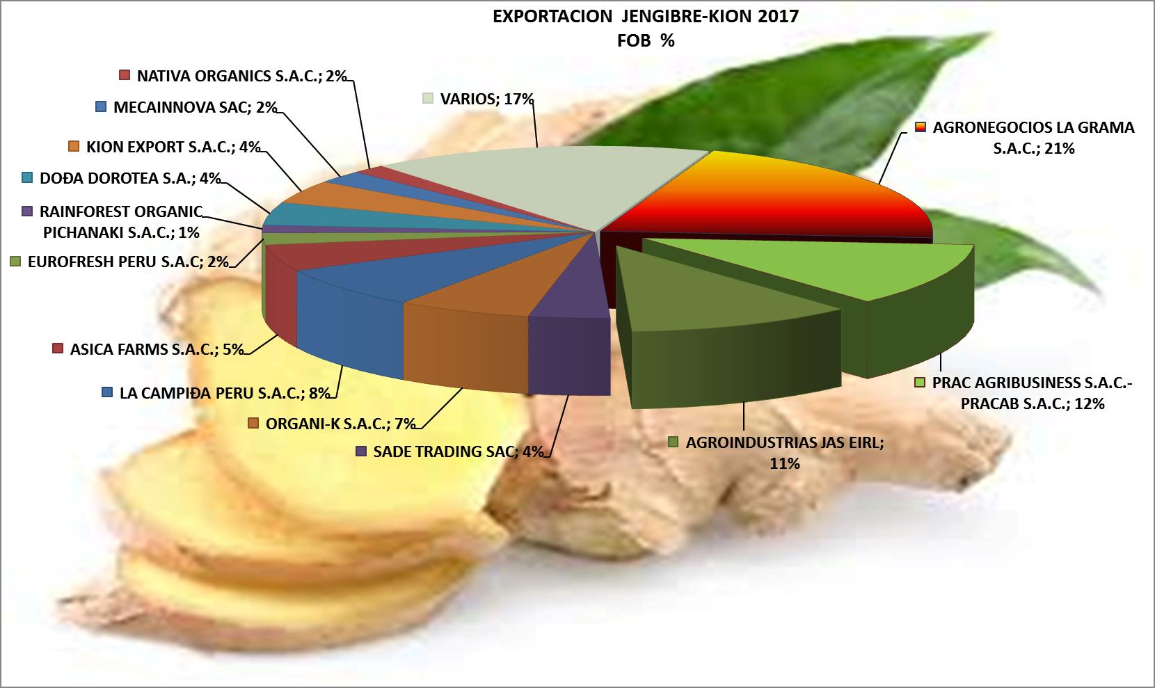 Jengibre – Kión Perú Exportación 2017 Julio